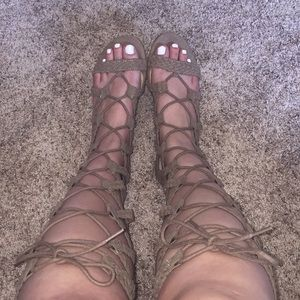 Women's Mossimo Lace-Up Sandals